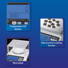CAS, MWP-C-H series – 0.01~0.05g – 600~3000g – Precision Counting & Weighing Balance